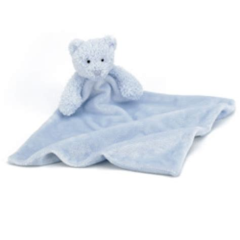 Comfort Blanket For Baby by Jellycat Bebe Blue Soother Comfort Blanket