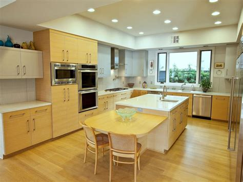 modern kitchen with oak cabinets hardwoods design what