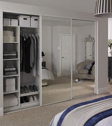 White Sliding Mirror Wardrobe mirror design ideas white edge wardrobe with sliding