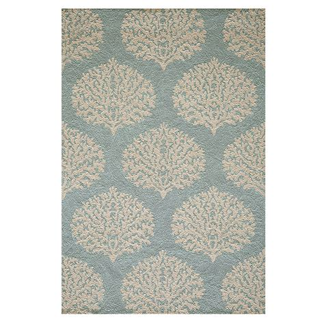 Blue Coral Indoor Outdoor Rug Gump S Coral Indoor Outdoor Rug