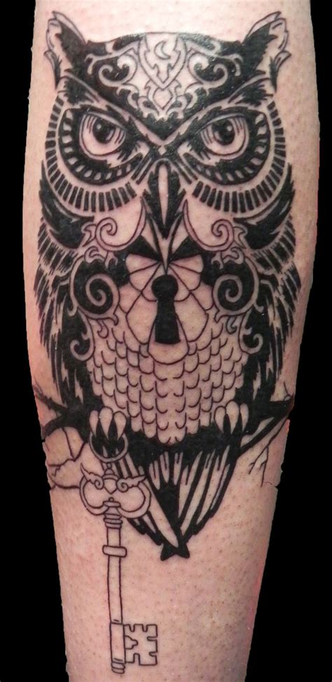 owl tattoo with key meaning ornate owl session one by rumpelstilzchen on deviantart