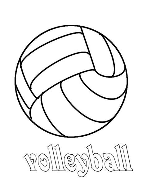 volleyball coloring pages bestofcoloring com