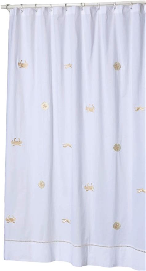 beach style shower curtains shower curtain sea life beige beach style shower