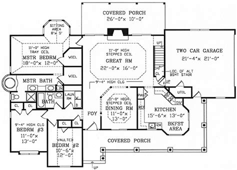 ranch farmhouse floor plans traditional style ranch farmhouse w wrap around porch