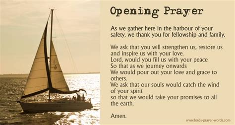 opening prayers for gatherings just b cause