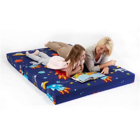 kids folding bed childrens kids double guest folding z chair bed mattress