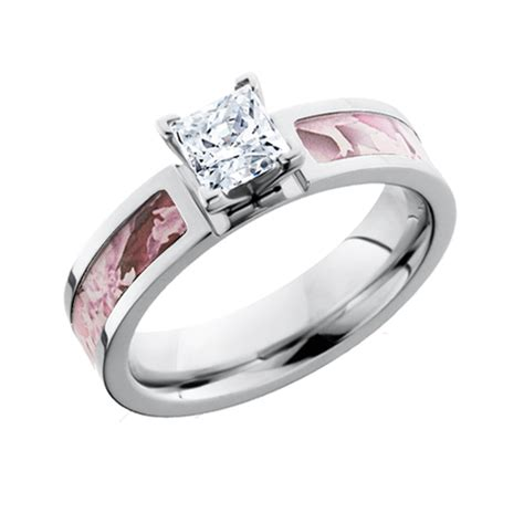 pink camo princess cut engagement ring free