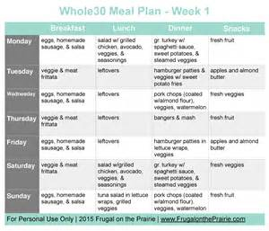 Whole30 Meal Planning Template by The Busy Person S Whole30 Meal Plan Week 1 Allison