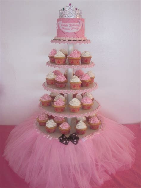 Baby Shower Decor Princess Cupcake Tower Pictures