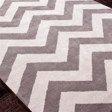 White Gray Rug by Plush Wool Chevron Rug Chevron Rugs Chevron And Rugs