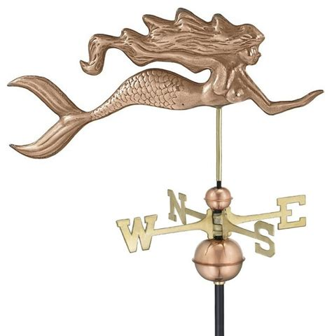 Copper Moon Landscape Lighting - good directions mermaid weather vane polished copper traditional weather vanes by the