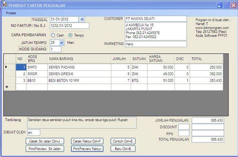 program pembuat kwitansi gratisan software pembuat surat jalan dan faktur