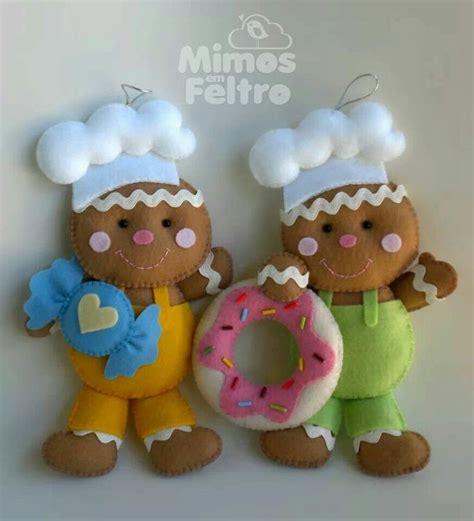 pan de jengibre fieltro dulces y galletas por simplysweetgifts galletas de fieltro navidad pinterest