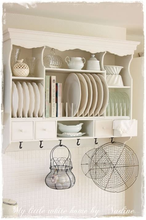 kitchen wall shelves for dishes such a pretty display for