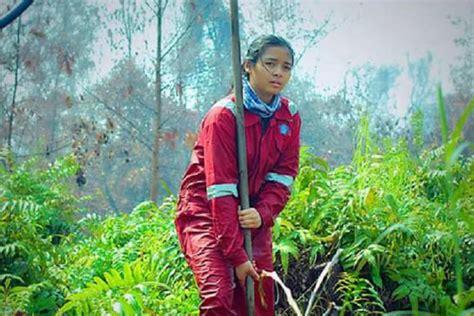 Bor Intan salut gadis cantik ini jadi relawan pemadam kebakaran