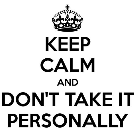 Taking It Personally by Revgalblogpals Ask The Matriarch Taking It Personally