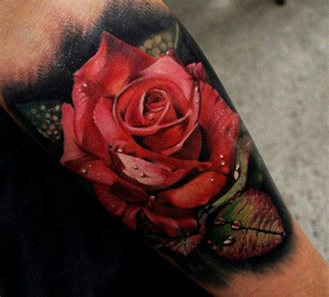 tattoo 3d rosas 3d red rose tattoo tattoos pinterest beautiful
