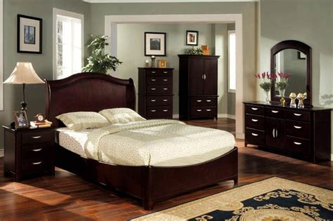 dark cherry bedroom furniture design and decor theme ideas