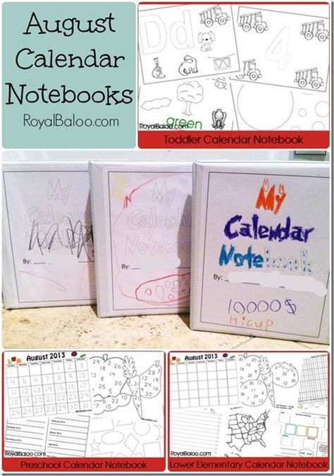 Calendar Notebook Calendar Notebooks Royal Baloo