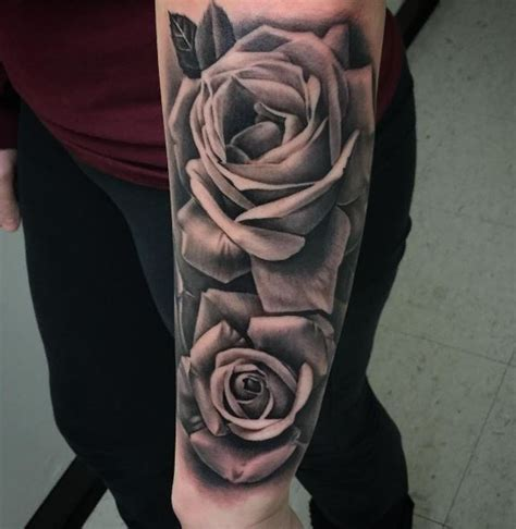 black n gray rose tattoo black gray roses inkstylemag