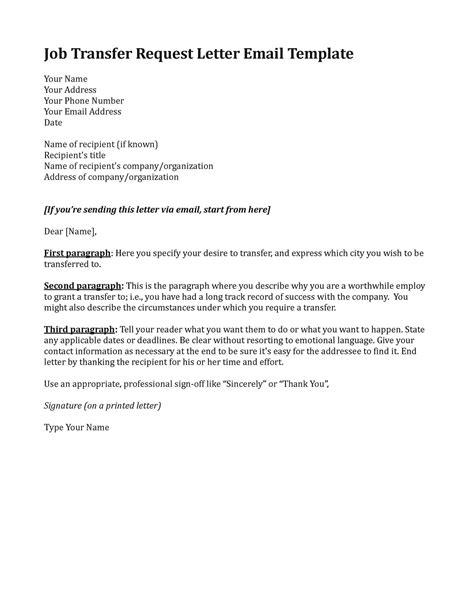 Request Transfer Letter Format Pin Acceptance Transfer Letter On