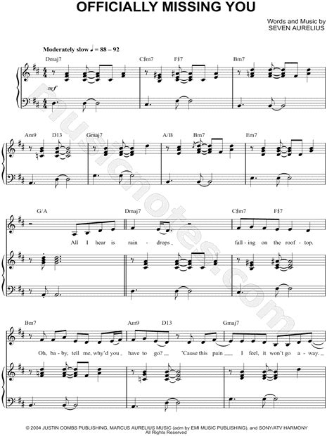download mp3 officially missing you tamia quot officially missing you quot sheet music in d major