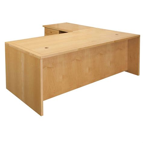 Jesper Used Left Return 34 215 71 L Shape Desk Maple Maple Desk
