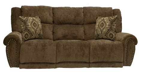Lay Flat Recliner Sofa by Catnapper Stafford Power Lay Flat Reclining Sofa Tobacco