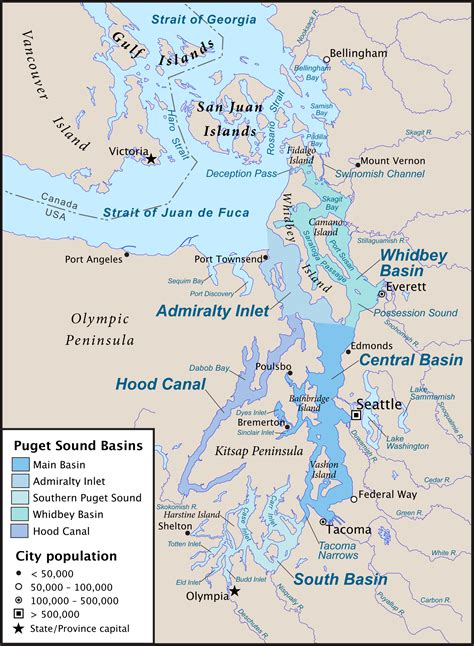 Map Of Puget Sound And by Puget Sound Region Wikipedia