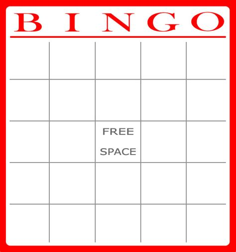 bingo card template word free bingo card template bingo