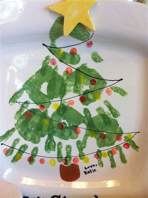 christmas tree handprint yummmmyyyy pinterest