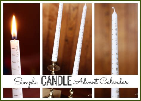 Calendar Candle Simple Candle Advent Calendar Sugar Bee Crafts