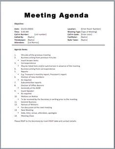 Download The Formal Meeting Minutes Template From Vertex42 Com Frach Pinterest The O Jays Sle Event Agenda Template