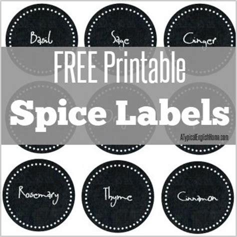 free printable kitchen spice labels free printables pinterest anti procrastination tuesday new nostalgia