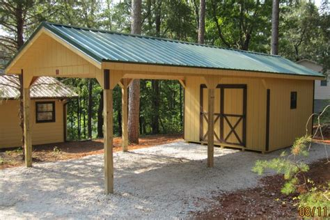 Carport With Shed Attached Storage Shed With Carport Attached