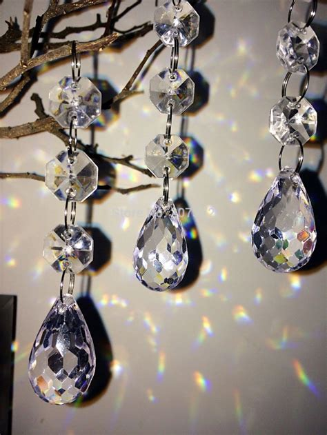 33ft fashion acrylic crystal beads hanging tree garland