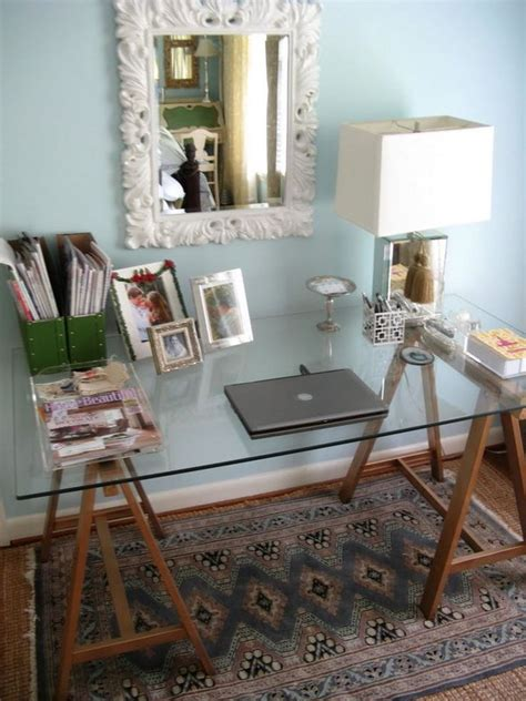 Diy Glass Top Desk 20 Cool And Budget Ikea Desk Hacks Hative