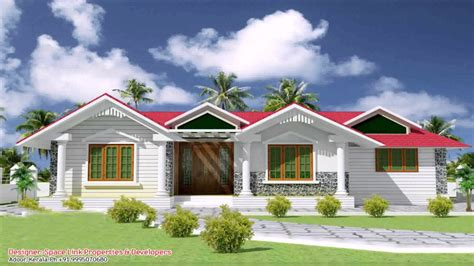 Single Floor 4 Bedroom House Plans Kerala single floor house front elevation design india youtube