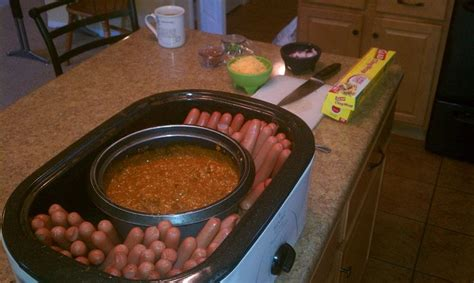 how to cook dogs in crock pot chili bar my clever husband set a pot of chili in our cooker and then stood
