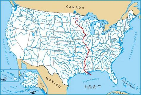 united states map showing mississippi river the bridges and structures of the mississippi river