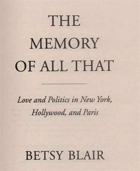 libro all about politics how betsy blair