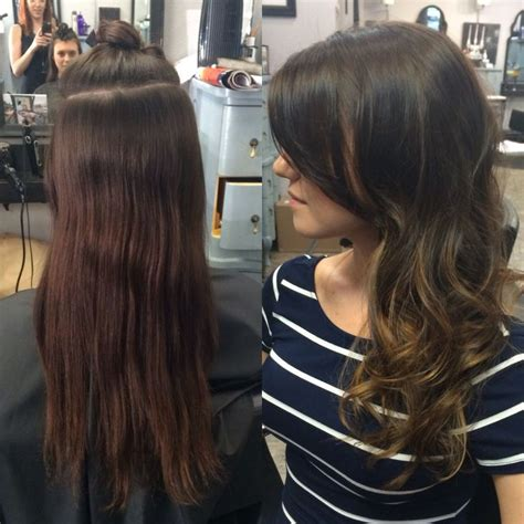 balayage highlights for grey hair before and after before and after balayage highlights my work balayage
