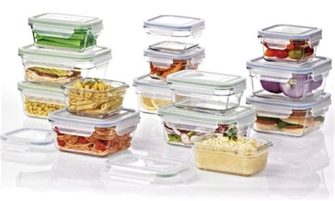 Lock Four Food Storage Set Of 3 Ungu Oi16 Oi16 glasslock food storage sets groupon goods