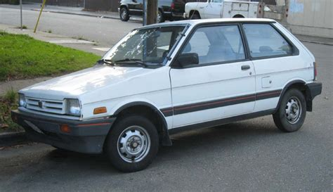 subaru justy turbo 1987 subaru justy