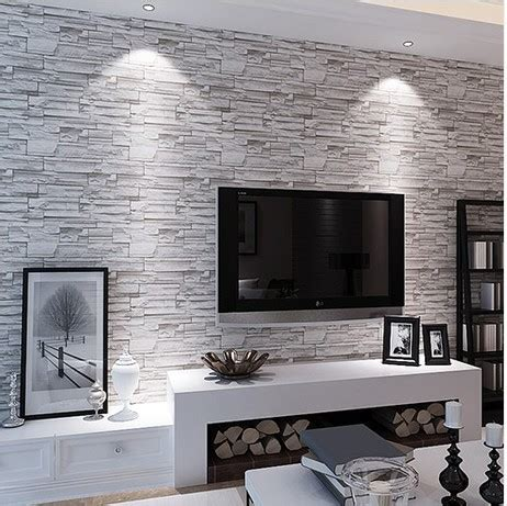 brick wallpaper grey living room stone brick wall paper living room walls wallpaper rolls