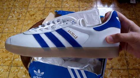 sepatu sneakers adidas gazelle vintage white s76225 unboxing