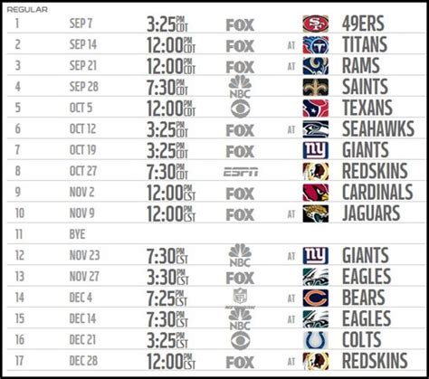 printable nfl giants schedule 2015 new york giants schedule printable calendar