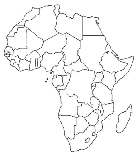 world map for students to fill in free blank printable of africa afrika pinterest