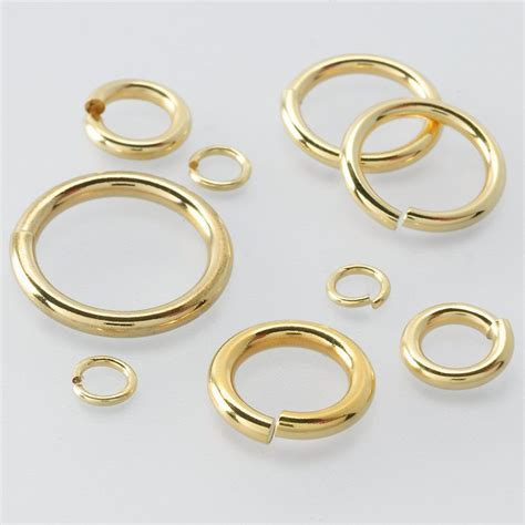 jewelry jump rings 14 20 yellow gold filled 6mm jump ring