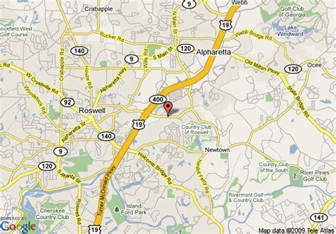 map of alpharetta map of ramada limited suites alpharetta alpharetta